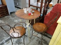 Vintage Ice Cream Parlor Table and Chairs in Camp Lejeune, North Carolina