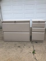 2 very nice filing cabinets with keys for sale in Naperville, Illinois