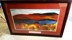 Georgia O'Keefe - Lake George, Autumn (wood framed) in Naperville, Illinois