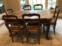 Oak French Table and 6 Chairs in Houston, Texas
