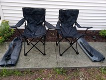 2 folding chairs with carrying cases in Wheaton, Illinois
