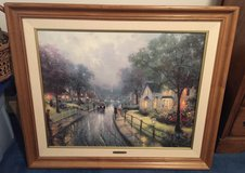 """""""Retired"""" Thomas Kinkade Hometown Memories 1 On Canvas, Numbered, Signed, Framed, COA in Glendale Heights, Illinois"""