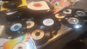 Old rock and roll  45 rpm records from 70's in Camp Lejeune, North Carolina