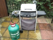 Barbecue with new gas bottle in Lakenheath, UK