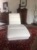 Beautiful white lounge chair in Ramstein, Germany