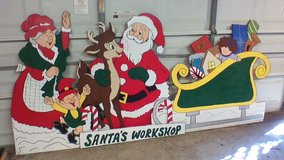 Santa's Workshop with toys in Kingwood, Texas