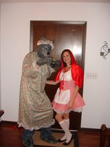 Red Riding hood and wolf costumes in Oswego, Illinois