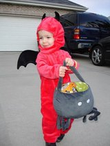 Halloween costume devil in Oswego, Illinois