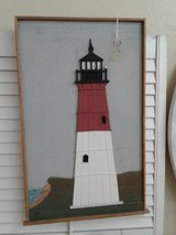 Wooden Lighthouse Puzzle Cut Wall Art #983-28 in Camp Lejeune, North Carolina