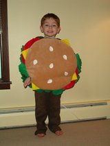 Burger Halloween costume in Oswego, Illinois
