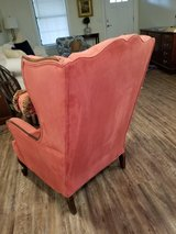Coral wing chair in Beaufort, South Carolina