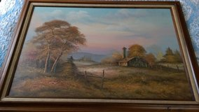 Vintage Bennett oil on canvas painting in Warner Robins, Georgia