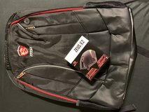 """MSI Gift-Gaming backpack for 15""""~17"""" Standard + Free Gaming Mouse in Vista, California"""