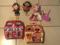 Lalaloopsy Lot of Large Dolls And Playhouse Cases EUC in Travis AFB, California