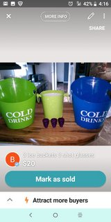 all 3 buckets and shot glasses for 10 in Fort Campbell, Kentucky