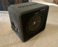 "Kicker 12"" Comp R subwoofer and Amp in Fort Leonard Wood, Missouri"