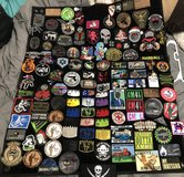 LOT of Morale Patches w/patch panel in Fort Campbell, Kentucky