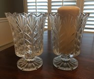 A pair of cut glass candleholders/vases in Beaufort, South Carolina