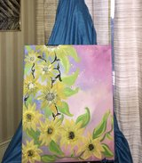 Bohemian Yellow Flower Painting in Alamogordo, New Mexico