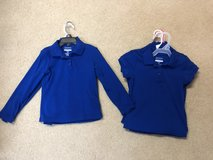 Blue uniform polos size 4/5, 6/6x, and 7/8 in Leesville, Louisiana