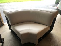 Creme Leather Sectional (Corner Only) in Aurora, Illinois