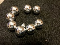 Silver ball Christmas Ornaments - Set of 8 in St. Charles, Illinois