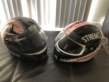His and Hers helmets in Camp Pendleton, California