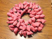 Pink Cloth Christmas Wreath in Glendale Heights, Illinois
