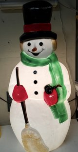 """Vintage Top Hat Hard Plastic Snowman 39"""" Blow Mold Light Up Outside Display in Glendale Heights, Illinois"""