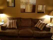 3 cushion couch - 2 years old in Batavia, Illinois