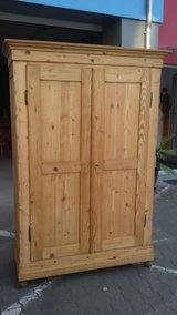 Restored pine antique armoire in Ramstein, Germany