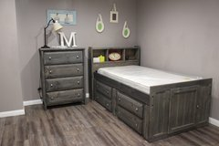 Twin Captain's Bed with Matching Chest if Drawers in Houston, Texas