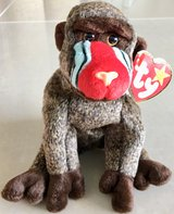 Ty Beanie Baby Cheeks the Baboon New in Okinawa, Japan