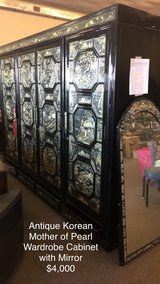 Korean Mother of Pearl Wardrobe with mirror in Fort Leonard Wood, Missouri