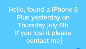found iPhone in Ramstein, Germany