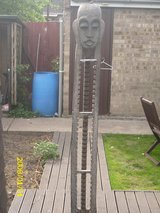 6ft tall carved african cd rack in Lakenheath, UK