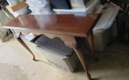 cherry wood sofa table in St. Charles, Illinois