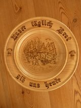 wooden plate / platter  with a vers of a prayer in Stuttgart, GE