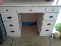 Painted desk in Aurora, Illinois