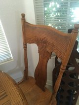 Antique solid oak table and four chairs in excellent condition in 29 Palms, California