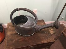 Antique copper watering can in Beaufort, South Carolina