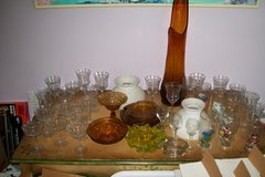 Vintage glass collection in Cherry Point, North Carolina