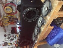 "Car Audio bundle (two 10"" subs, four 6x8 door speakers, 1 mono amp, one 5 channel amp, + more) in Kingwood, Texas"