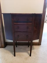 Antique vintage knitting side accent table in Wheaton, Illinois
