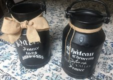 French Painted Milk Jugs in Ramstein, Germany