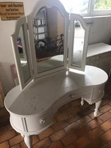 American Signature Makeup Vanity Desk with Trifold Mirror in Stuttgart, GE