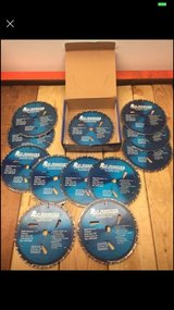 Circular Saw 24 Tooth Tungsten Cobalt Blades.  Brand new case of 12 blades in Glendale Heights, Illinois