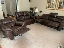 3 piece faux leather couch set in Bartlett, Illinois