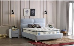 United Furniture - King Size Cloud Storage Bed + 2 x Night Stand + Mattress + Delivery in Wiesbaden, GE
