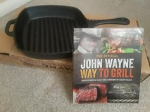 John Wayne cast iron grill and cookbook. in Camp Pendleton, California